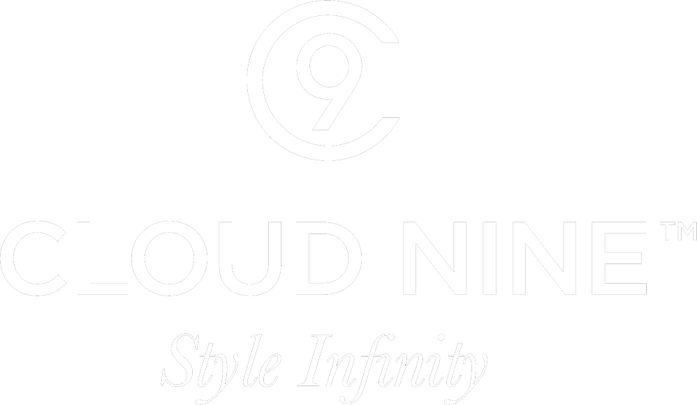 Cloud Nine Style infinity logo White on Black